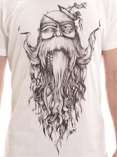 white t-shirt print men