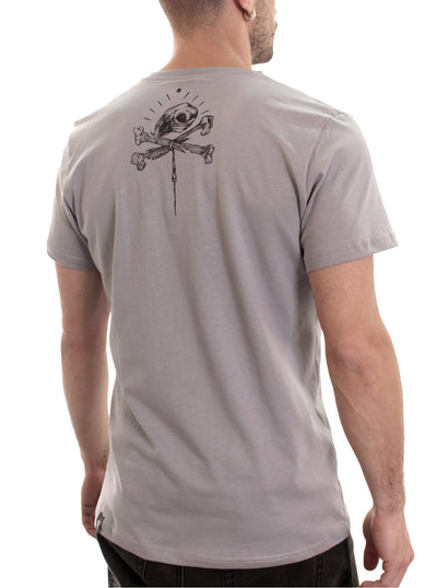 grey music festival wear t-shirt men