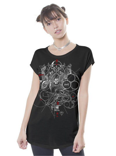black t-shirt women
