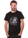 black psychedelic print t-shirt men