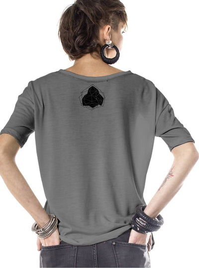 grey rave t-shirt women plazmalab
