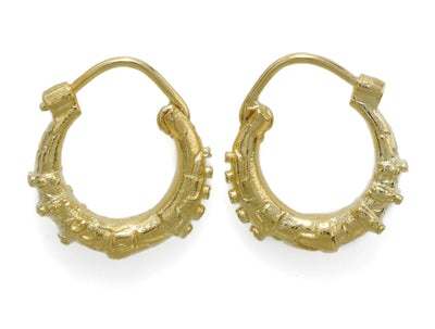Hoop GP Brass Steampunk Earrings