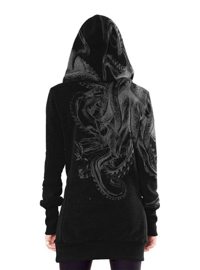 Plazmalab Hoodie Dress David vs Kraken Octopus Mythical Battle