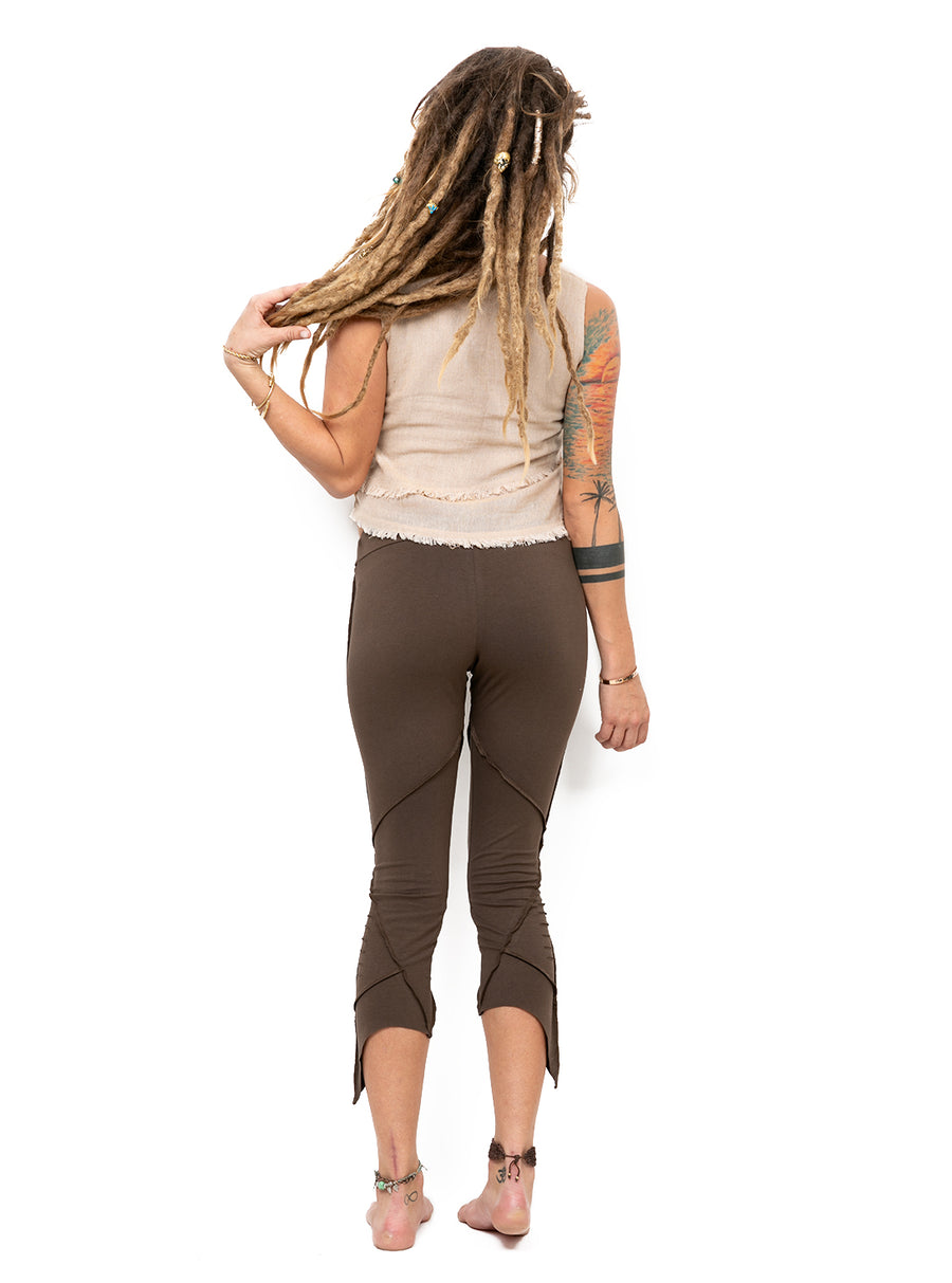 Organic Cotton Pixie Leggings With Slash Detail
