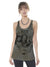 Plazmalab Long Cami Tank Top Mystical Fox Woman on Storm