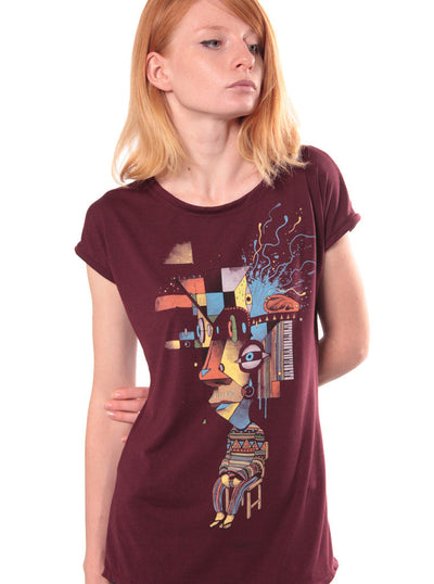 psychedelic t-shirt women