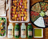 kreation catering, juices and dips