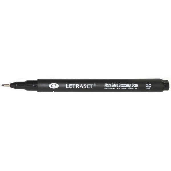 Black 0.7 Letraset Fine Line Drawing Pen - Artified Shop