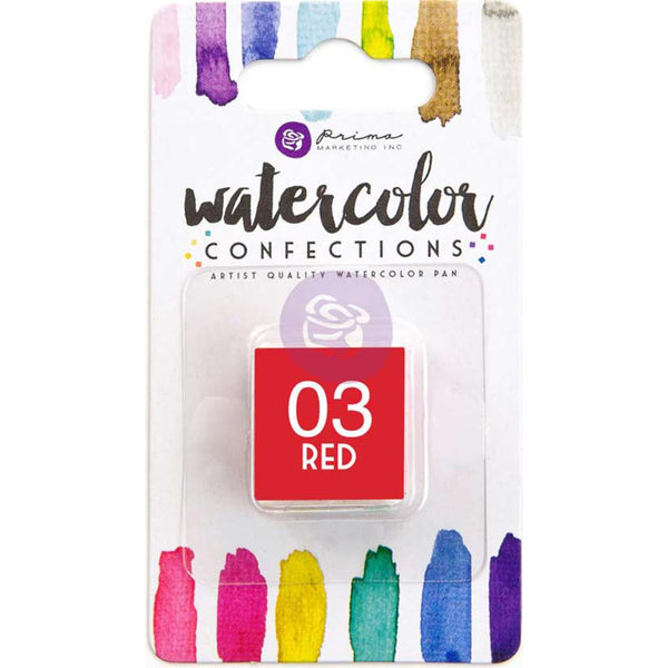 Prima Watercolor Confections Watercolor Pan Refill - 03 Red - Artified Shop