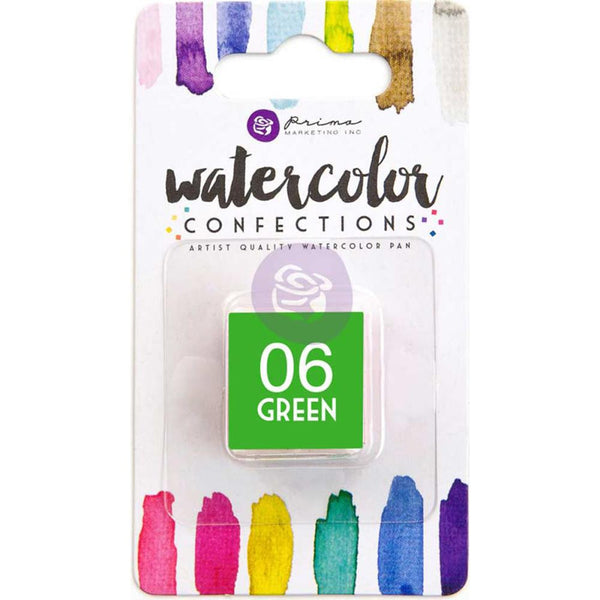 Prima Watercolor Confections Watercolor Pan Refill - 06 Green - Artified Shop