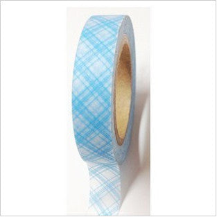 Blue Diamond Pattern on Light Blue Washi Tape - Artified Shop