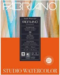 Fabriano Studio Watercolor Pad Hot Press 9x12""