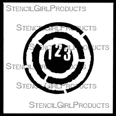 "123 4x4"" Stencil - Artified Shop"