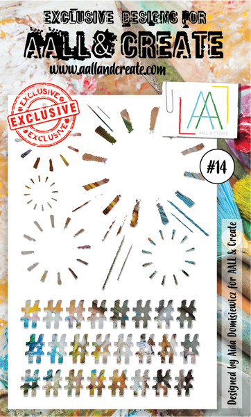 AALL & Create Stencil #14 by Aida Domisiewicz - Artified Shop