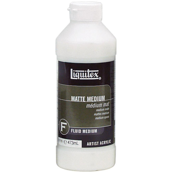 Liquitex Matte Acrylic Fluid Medium 16oz - Artified Shop