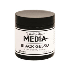 Dina Wakley Media Black Gesso 4oz Jar