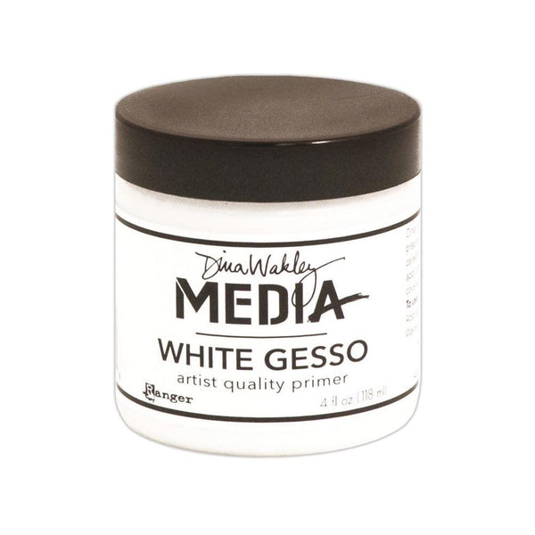 Dina Wakley Media White Gesso 4oz Jar