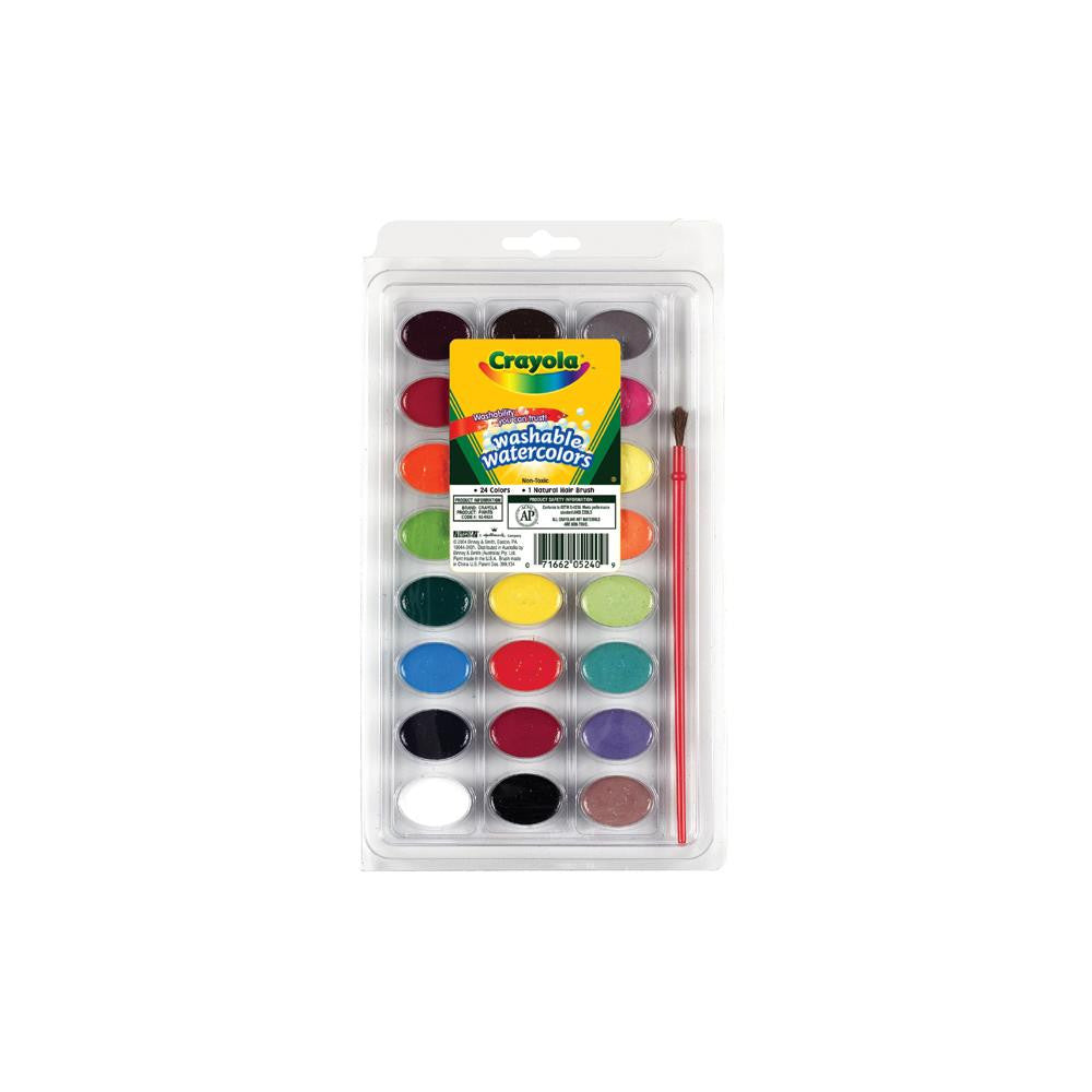 Crayola Washable Watercolors - 24 Pack - Artified Shop