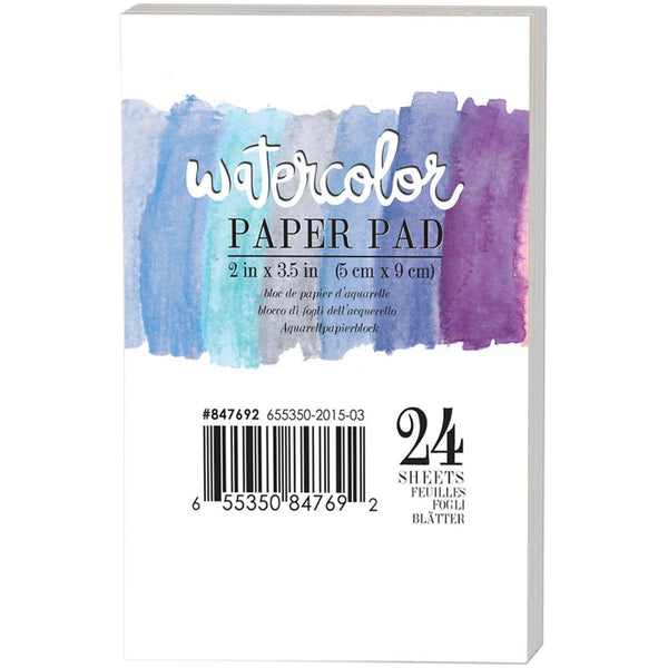 "Watercolor 140lb Cold Press Paper Pad 2""X3.5"" 24/Pkg - Artified Shop"