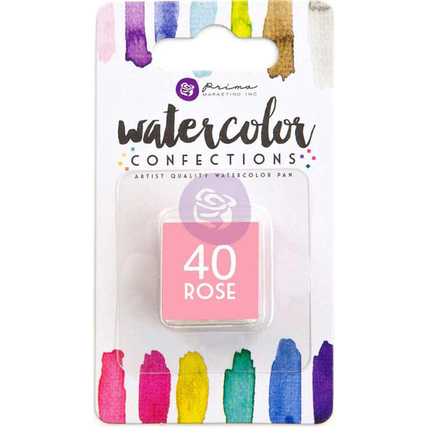 Prima Watercolor Confections Watercolor Pan Refill - #40 Rose - Artified Shop