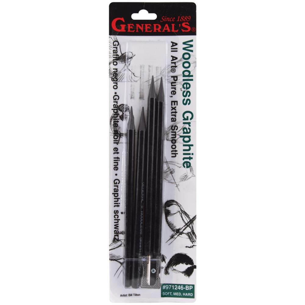Woodless Graphite Pencils 4/Pkg