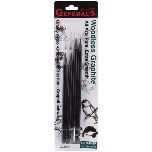 Woodless Graphite Pencils 4/Pkg - Artified Shop