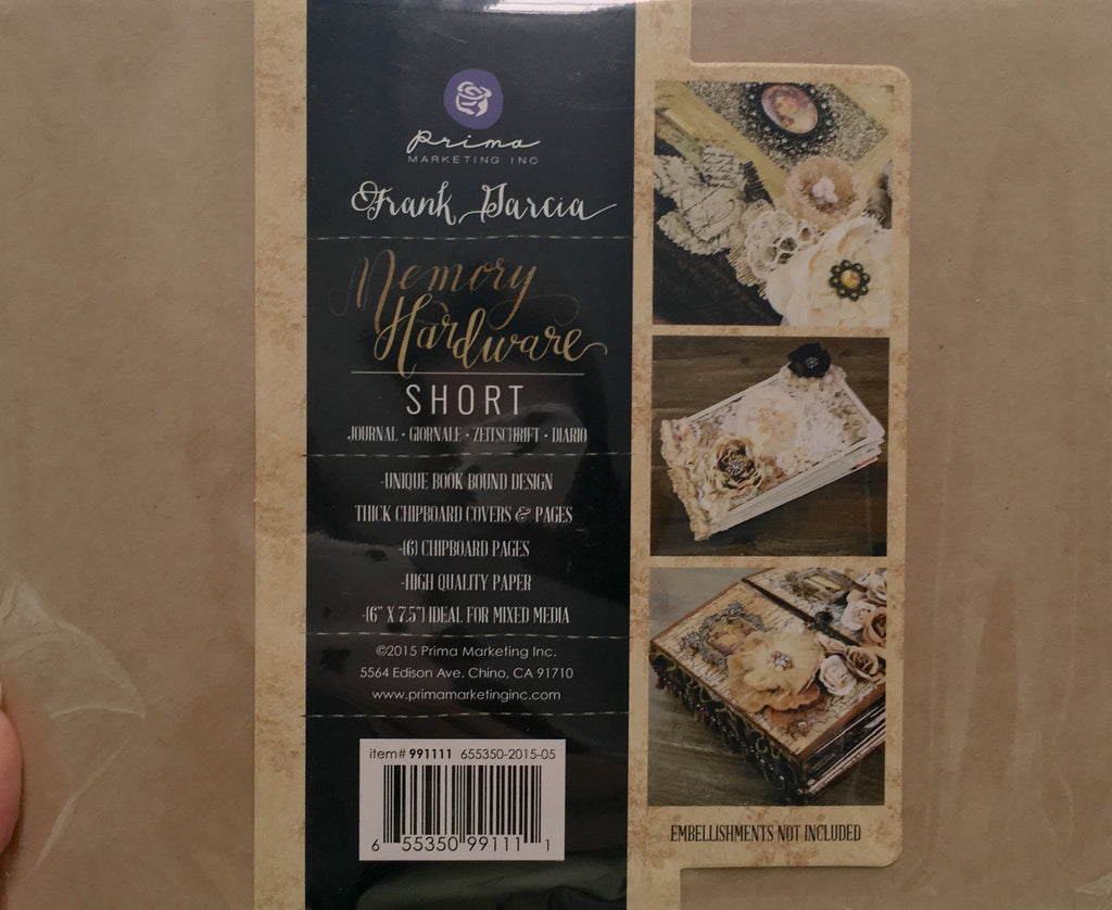 Kraft Short w/ 6 pages Prima Marketing Frank Garcia Memory Hardware Chip Album - Artified Shop
