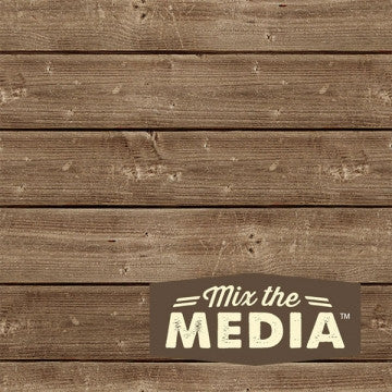 "6x6 "" Mix The Media Wooden Plank Plaque - Artified Shop  [product_venor]"