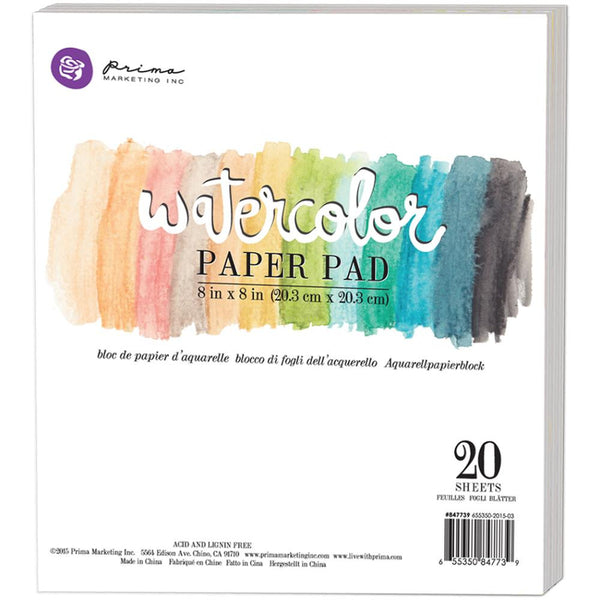 "Watercolor 140lb Cold Press Paper Pad 8""X8"" 20/Pkg"