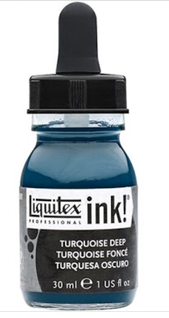Turquoise Deep Liquitex Professional Acrylic Ink 30ml - Artified Shop