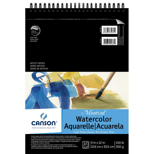"Canson Montval Spiral Watercolor Pad 9""X12"" - Artified Shop  [product_venor]"