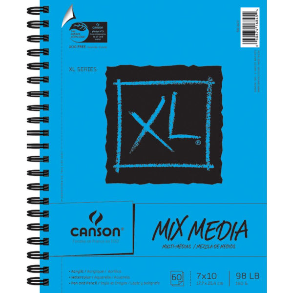 "Canson XL Spiral Multi-Media Paper Pad 7""X10"""
