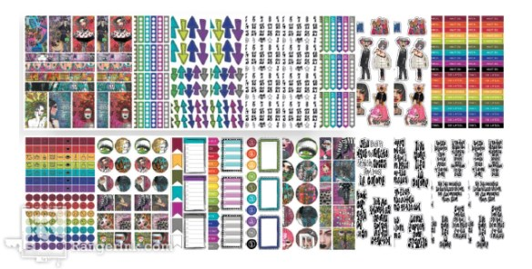 Dylusions Creative Dyary Stickers Book 2 - Small - Artified Shop