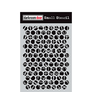 Darkroom Door Small Stencil - Polka Dots
