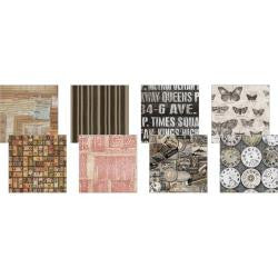 "Eclectic Elements 6""X6"" Fabric Pack By Tim Holtz 8/Pkg - Documentation"