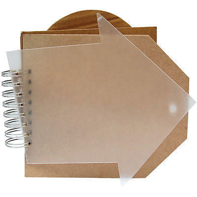 "Bare Booklets Spiral Bound Mixed Media Album 8""X8"""