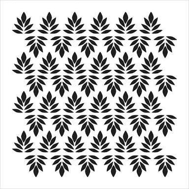 "Indian Leaves Crafter's Workshop Template 6""X6"" - Artified Shop"