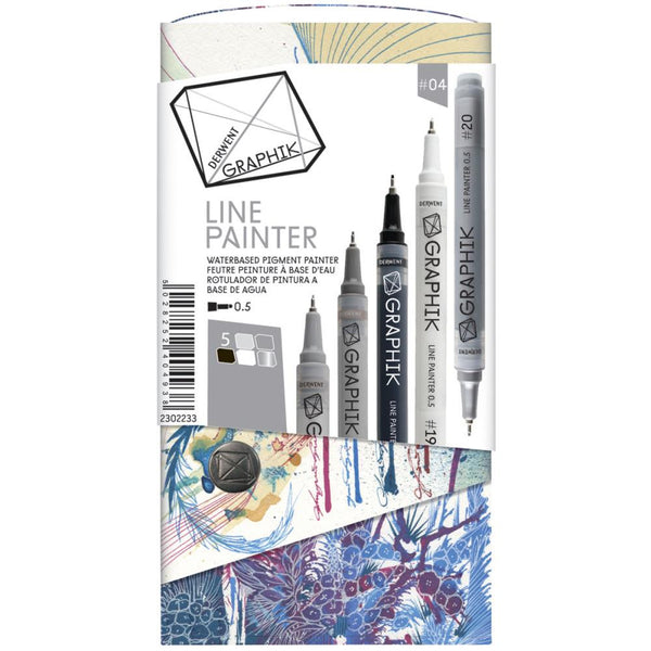 Palette #4 Derwent Graphik Line Painter Set 5/Pkg
