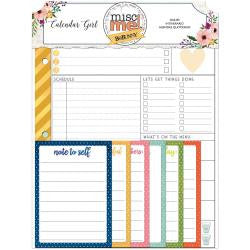 Calendar Girl Misc Me Daily Planner Contents 63/Pkg
