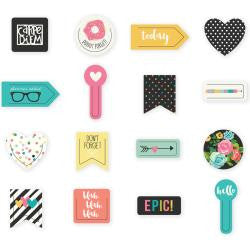 Carpe Diem Decorative Shaped Plastic Clips 16/Pkg - Artified Shop  [product_venor]