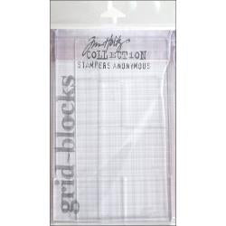 Tim Holtz Acrylic Stamping Grid Blocks 9/Pkg - Artified Shop