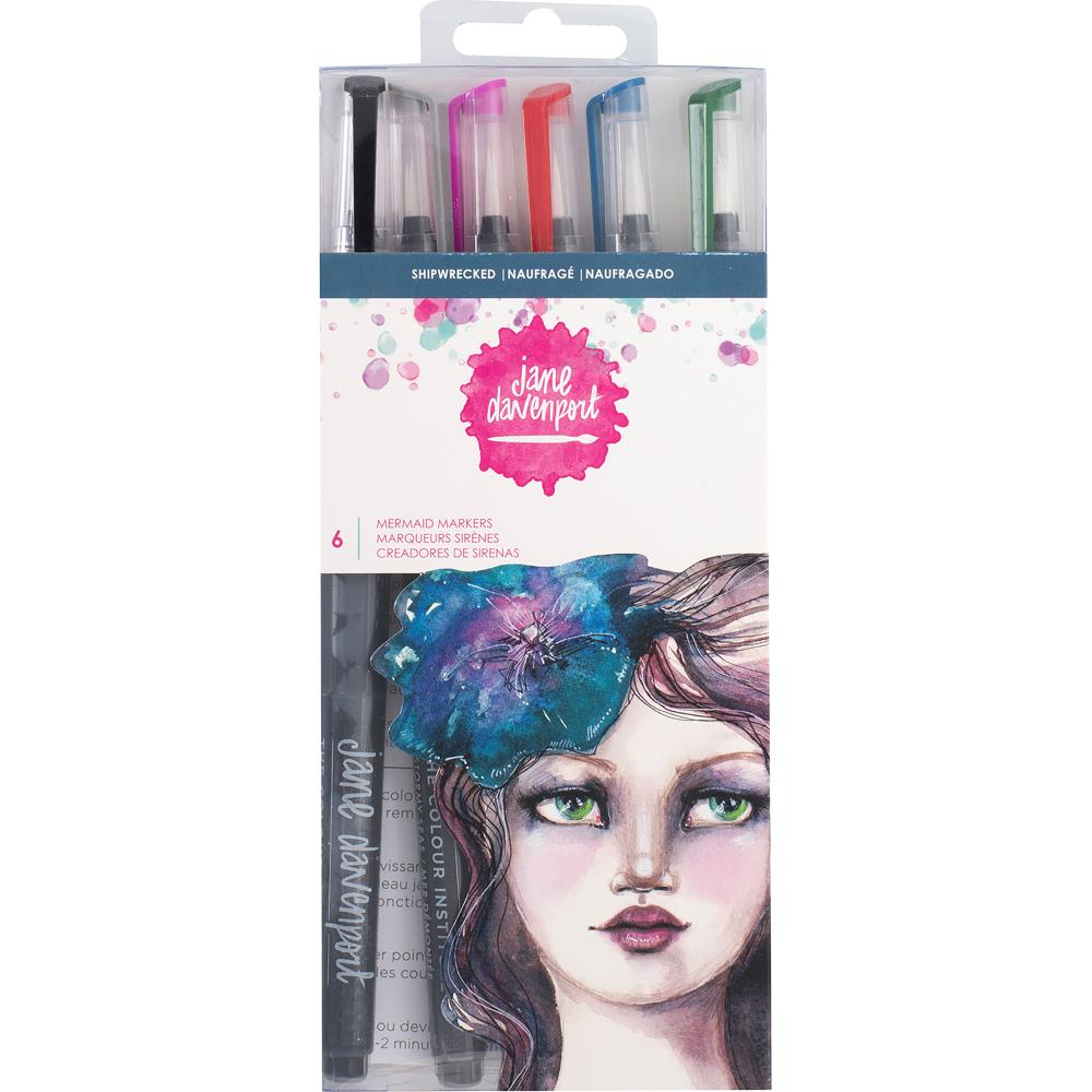 Shipwrecked Jane Davenport Mixed Media 2 Mermaid Markers 6/Pkg - Artified Shop