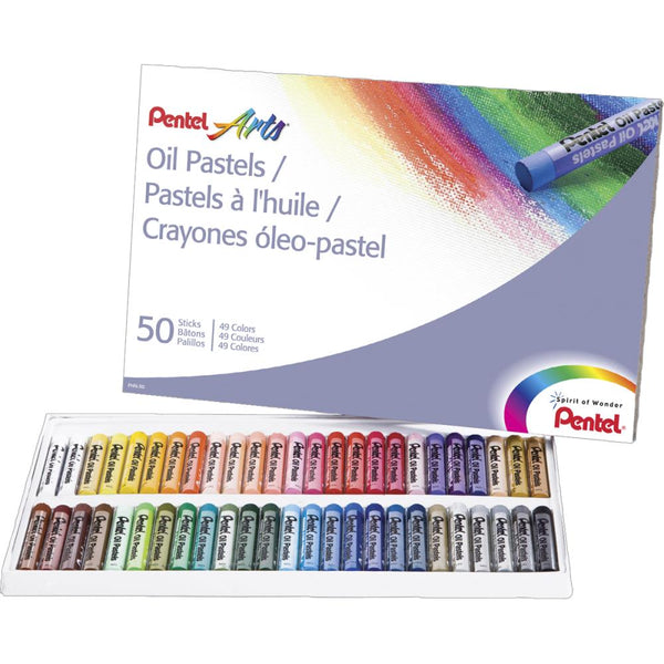 Pentel Oil Pastels 50/Pkg - Artified Shop