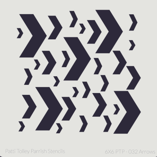 "Arrows - Patti Tolley Parish Stencil - 6x6"" - Artified Shop  [product_venor]"