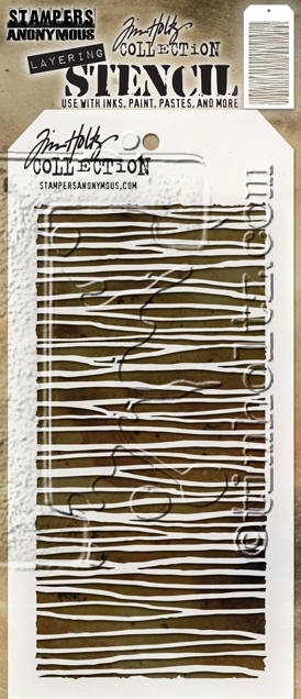 "Tim Holtz Layered Stencil 4.125""X8.5"" String - Artified Shop"