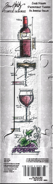 "Tim Holtz Mini Blueprints Strip Cling Stamps 3""X10"" Wine - Artified Shop"