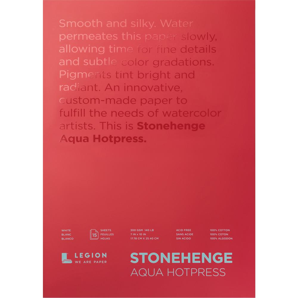 "Stonehenge Aqua Block Hot Press Pad 7""X10"" 15 Sheets/Pkg - Artified Shop"