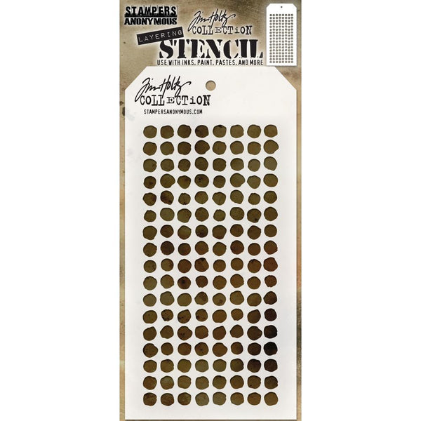 "Tim Holtz Layered Stencil 4.125""X8.5"" - Dotted"
