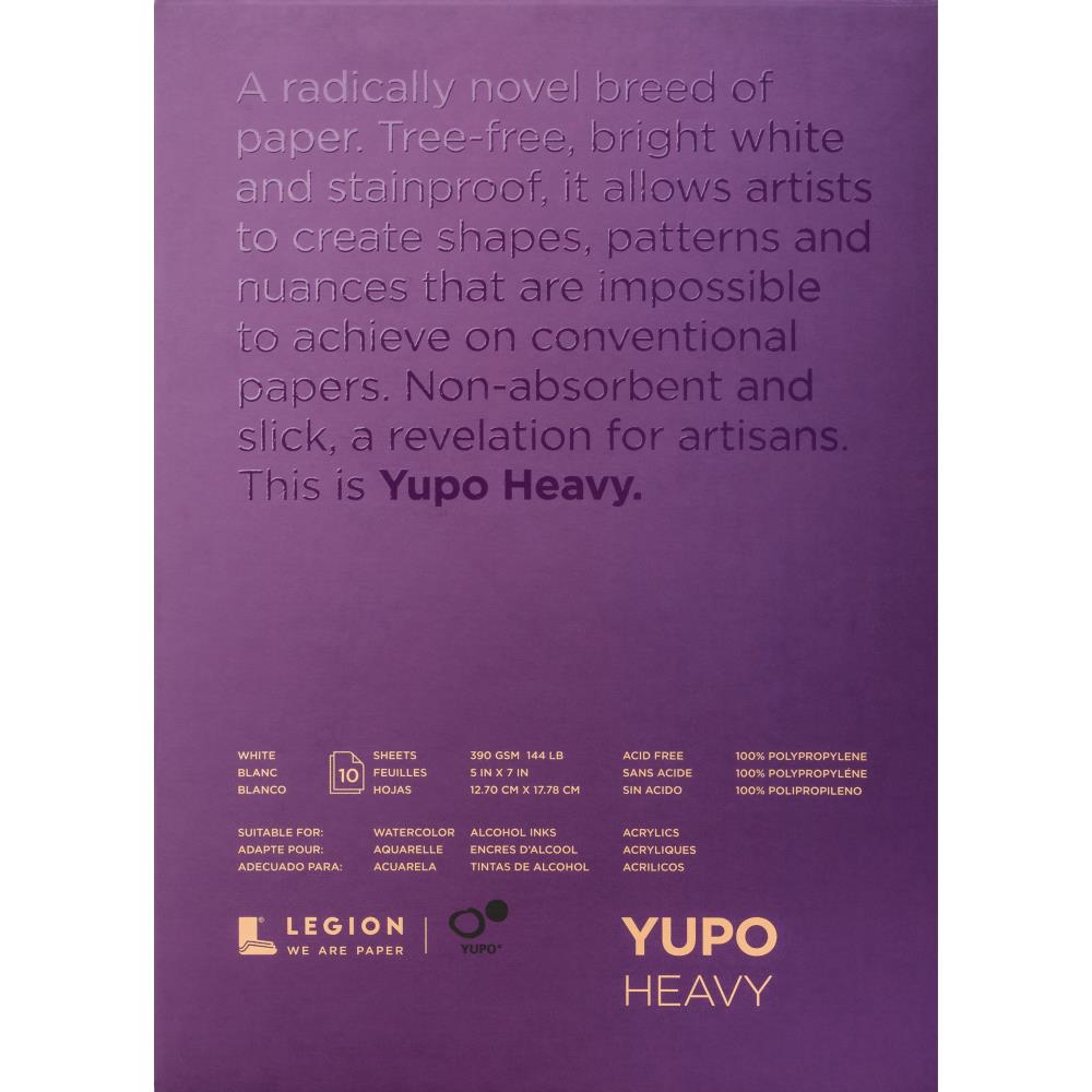 "Yupo Heavy Pads 5""X7"" 10 Sheets/Pkg - White 144lb - Artified Shop"