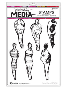 "Dina Wakley Media Cling Stamps 6""X9"" Abstract Figures - Artified Shop"